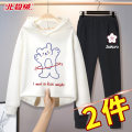 suit Beijirog / Arctic velvet 110cm 120cm 130cm 140cm 150cm 160cm 165cm female spring and autumn motion Long sleeve + pants 2 pieces routine There are models in the real shooting Socket No detachable cap Cartoon animation cotton friend Giving presents at school bejirog2020A55 Class B Spring 2021