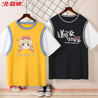 T-shirt Beijirog / Arctic velvet 110cm 120cm 130cm 140cm 150cm 160cm 165cm female summer Short sleeve Crew neck motion There are models in the real shooting nothing Pure cotton (100% cotton content) Cartoon animation Cotton 100% bejirog022826 Class B Sweat absorption Summer 2021 Chinese Mainland
