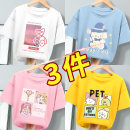 T-shirt Beijirog / Arctic velvet 110cm 120cm 130cm 140cm 150cm 160cm 165cm female summer Short sleeve Crew neck leisure time There are models in the real shooting nothing cotton Cartoon animation Cotton 100% bejirog022819 Class B Sweat absorption Summer 2021 Chinese Mainland