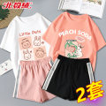 T-shirt Beijirog / Arctic velvet 110cm 120cm 130cm 140cm 150cm 160cm 165cm female summer Short sleeve Crew neck leisure time There are models in the real shooting nothing cotton Cartoon animation Cotton 100% bejirog007115 Class B Sweat absorption Summer 2021 Chinese Mainland