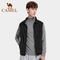Vest / vest other camel M L XL XXL XXXL Other leisure Self cultivation Vest autumn stand collar youth 2020 Solid color zipper Polyester 100% Autumn 2020 Same model in shopping mall (sold online and offline)