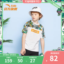 T-shirt Anta 130cm 140cm 150cm 160cm 165cm 170cm male summer Short sleeve Crew neck leisure time Official pictures nothing cotton Cartoon animation Cotton 100% Summer 2020 6 years old, 7 years old, 8 years old, 9 years old, 10 years old, 11 years old, 12 years old, 13 years old and 14 years old