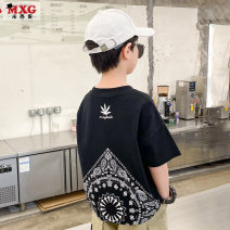 T-shirt White and black are big enough Mizoguo 110cm 120cm 130cm 140cm 150cm 160cm 170cm male summer Short sleeve Crew neck leisure time There are models in the real shooting nothing Pure cotton (100% cotton content) other Cotton 100% mdtx21207 Class B Summer 2021 Chinese Mainland