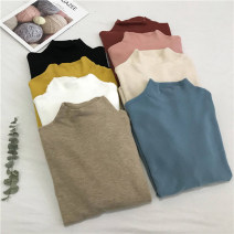 Wool knitwear Autumn 2020 Average size Black, white, ginger, apricot, khaki, pink, haze blue, brick red Long sleeves singleton  Socket other 30% and below have cash less than that is registered in the accounts routine commute Self cultivation Half height crew neck routine Solid color Socket