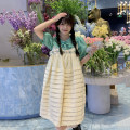 Dress Summer 2021 Short skirt singleton  Sleeveless commute High waist Condom A-line skirt 18-24 years old Type A Korean version 30% and below other One size fits all Apricot, top