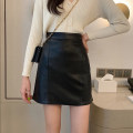 skirt Spring 2021 S,M,L,XL,2XL Blue, yellow, black Short skirt commute High waist A-line skirt Solid color Type A 18-24 years old 30% and below other other Korean version
