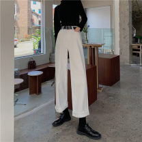 Jeans Spring 2021 White, blue, black S,M,L trousers High waist Wide legged trousers 18-24 years old other 30% and below