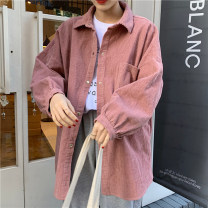 short coat Spring 2021 Average size Black, apricot, yellow, pink Long sleeves Medium length routine singleton  easy commute shirt sleeve Polo collar Single breasted Solid color 18-24 years old 30% and below Pocket, button other