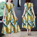 Dress Summer 2020 Picture color M,L,XL,2XL,3XL,4XL,5XL Short sleeve commute Crew neck routine 18-24 years old Korean version 31% (inclusive) - 50% (inclusive) polyester fiber