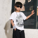 T-shirt White black BAPE KIDS 100cm 110cm 120cm 130cm 140cm neutral summer Short sleeve Crew neck leisure time There are models in the real shooting nothing cotton Cartoon animation Cotton 100% Quick drying Summer 2021