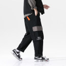 Casual pants Others Youth fashion Black, Khaki M. L, XL, 2XL, 3XL, 4XL, 5XL, s small, XS plus small routine trousers Travel? Straight cylinder spring youth tide 2021 middle-waisted Straight cylinder Cotton 100% Overalls Pocket decoration No iron treatment Solid color cotton