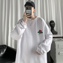 Sweater Youth fashion Others Black, white, grey M. L, XL, 2XL, 3XL, s small, XS plus small Solid color Socket routine Crew neck spring easy leisure time teenagers tide routine Cotton 100% cotton printing No iron treatment Japanese and Korean style