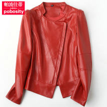 leather clothing Pobosity / pabosti Spring of 2018 SMLXL2XL3XL4XL Red pink have cash less than that is registered in the accounts Long sleeves Self cultivation commute stand collar zipper routine TP042518A zipper 30-34 years old Sheepskin Pure e-commerce (online only)