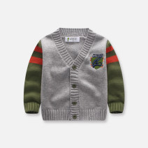 Sweater / sweater 73cm 80cm 85cm 90cm 95cm 100cm 110cm cotton male M0117 green singbail leisure time No model Single breasted routine V-neck nothing Ordinary wool other Cotton 100% M0117 Long sleeves Autumn of 2018 spring and autumn 6 months 12 months 9 months 18 months 2 years 3 years 4 years old