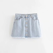 skirt Summer of 2019 S,M,L As shown in the figure Short skirt street High waist 18-24 years old 81% (inclusive) - 90% (inclusive) Europe and America