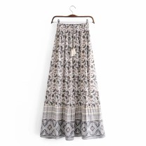 skirt Spring 2021 S,M,L,XL Mid length dress street High waist 18-24 years old 71% (inclusive) - 80% (inclusive) other Europe and America