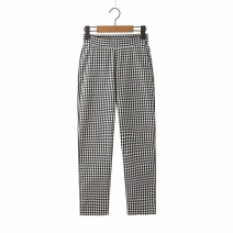 Casual pants As shown in the figure S,M,L Summer 2020 Ninth pants Flared trousers High waist street routine 18-24 years old 96% and above Europe and America