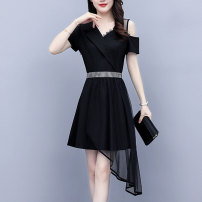 Women's large Summer 2021 Picture color L (recommended 100-118 kg) XL (recommended 118-130 kg) 2XL (recommended 130-150 kg) 3XL (recommended 150-165 kg) 4XL (recommended 165-180 kg) 5XL (recommended 180-200 kg) Dress singleton  commute Self cultivation thin Socket Short sleeve Solid color Polo collar
