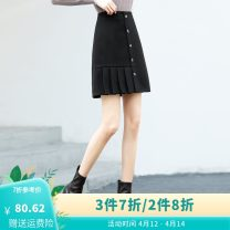 skirt Winter 2012 26,27,28,29,30 black Short skirt commute High waist A-line skirt Solid color Type A 25-29 years old S0DQAA00790 71% (inclusive) - 80% (inclusive) other When and when other Korean version