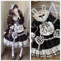 Dress Summer 2020 M, L Middle-skirt singleton  Short sleeve Sweet Admiral middle-waisted Solid color Socket Princess Dress puff sleeve Others 18-24 years old Type A Sauce 81% (inclusive) - 90% (inclusive) other other Lolita