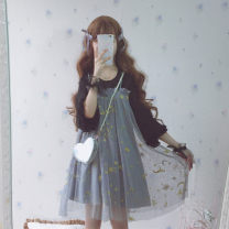 Dress Summer 2021 Night Star Dress Average size Middle-skirt singleton  Sweet Socket other 18-24 years old Type A Sauce 71% (inclusive) - 80% (inclusive) other other solar system
