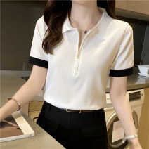 T-shirt BEIGE BLACK S M L XL Spring 2020 Short sleeve Polo collar Self cultivation have cash less than that is registered in the accounts routine commute other 96% and above 25-29 years old Korean version youth Solid color Meizhenzi MZZ041009 Other 100% Pure e-commerce (online only)