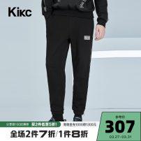 Casual pants kikc Youth fashion Dark black 28 29 30 31 32 33 34 36 trousers Other leisure Straight cylinder B3K450606 2020 Cotton 96% polyurethane elastic fiber (spandex) 4% Spring 2020
