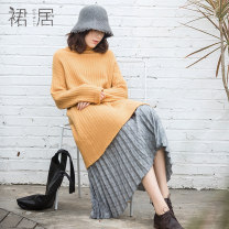 skirt Autumn of 2018 Average size lattice Mid length dress commute Natural waist other lattice 35-39 years old B183068 More than 95% Skirt house polyester fiber literature Polyester 97% polyurethane elastic fiber (spandex) 3% Pure e-commerce (online only)