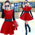 Dress Autumn of 2018 3XL,2XL,XL,L,M,S Middle-skirt Two piece set Long sleeves commute Crew neck middle-waisted Solid color Socket A-line skirt routine Others Type A Korean version
