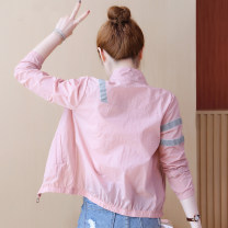 short coat Summer 2021 S. M, l, XL, 2XL, limited quantity 32.5 yuan White, pink, baby presents Long sleeves have cash less than that is registered in the accounts Thin money singleton  easy commute routine square neck zipper Solid color 18-24 years old 96% and above other