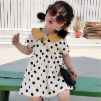 Dress Wave point female Other / other 7(90cm),9(100cm),11(110cm),13(120cm),15(130cm) Other 100% summer Short sleeve other other 2 years old, 3 years old, 4 years old, 5 years old, 6 years old Chinese Mainland