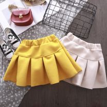 skirt 7(90cm),9(100cm),11(110cm),13(120cm),15(130cm) Yellow, beige Other / other female Other 100% spring and autumn skirt Korean version Solid color other F4847
