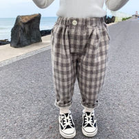 trousers Other / other female 7(90cm),9(100cm),11(110cm),13(120cm),15(130cm) lattice spring and autumn trousers leisure time Casual pants Leather belt middle-waisted Don't open the crotch F7009 F7009 2 years old, 3 years old, 4 years old, 5 years old, 6 years old