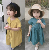 Dress Yellow, blue female Other / other 7(90cm),9(100cm),11(110cm),13(120cm),15(130cm) Other 100% summer Korean version Short sleeve other other F5197 2 years old, 3 years old, 4 years old, 5 years old, 6 years old Chinese Mainland