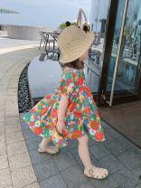 Dress Graph color female Other / other 7(90cm),9(100cm),11(110cm),13(120cm),15(130cm) Other 100% summer Korean version Short sleeve Broken flowers other other F6797 2 years old, 3 years old, 4 years old, 5 years old, 6 years old Chinese Mainland
