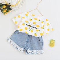 T-shirt Graph color Other / other 7(90cm),9(100cm),11(110cm),13(120cm),15(130cm) female summer Short sleeve Crew neck Korean version nothing other other F7176 other 2 years old, 3 years old, 4 years old, 5 years old, 6 years old Chinese Mainland