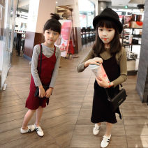 Dress Black, jujube female Other / other 7(90cm),9(100cm),11(110cm),13(120cm),15(130cm) Other 100% spring and autumn leisure time other other F0278 2 years old, 3 years old, 4 years old, 5 years old, 6 years old