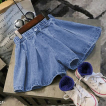 trousers Other / other female 7(100cm),9(110cm),11(120cm),13(130cm),15(140cm) Picture color summer shorts Korean version Jeans Leather belt middle-waisted Don't open the crotch F5099 shorts 2 years old, 3 years old, 4 years old, 5 years old, 6 years old