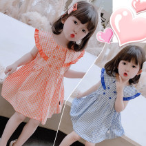 Dress Orange, blue female Other / other 7(90cm),9(100cm),11(110cm),13(120cm),15(130cm) Other 100% summer Korean version other other F6792 2 years old, 3 years old, 4 years old, 5 years old, 6 years old Chinese Mainland