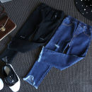 trousers Other / other female 7,9,11,13,15 Black, blue spring and autumn trousers Korean version Jeans Leather belt other Don't open the crotch F0762 Jeans 2 years old, 3 years old, 4 years old, 5 years old, 6 years old