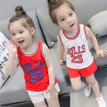suit Other / other Red clothes white pants white clothes red pants 7(90cm) 9(100cm) 11(110cm) 13(120cm) 15(130cm) neutral summer Korean version Sleeveless + pants 2 pieces Thin money Socket F1447