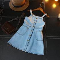 Dress Graph color Other / other female 7(100cm) 9(110cm) 11(120cm) 13(130cm) 15(140cm) Other 100% summer Korean version Skirt / vest