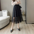 skirt Spring 2021 S,M,L,XL White, black Mid length dress commute High waist A-line skirt Solid color Type A 18-24 years old cr// 71% (inclusive) - 80% (inclusive) other Korean version