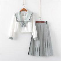 student uniforms Summer 2020, spring 2020, winter 2020, autumn 2020 S,M,L,XL,XXL Long sleeves solar system skirt 18-25 years old Huachuan silk