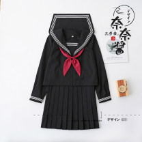 student uniforms Winter, summer, spring and autumn of 2019 S,M,L,XL,XXL Long sleeves solar system skirt 18-25 years old Huachuan silk