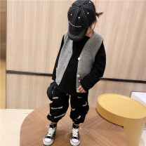 Vest neutral Grey wool vest 90cm,100cm,110cm,120cm,130cm,140cm Other / other spring and autumn There are models in the real shooting leisure time Chinese Mainland 18 months, 2 years old, 3 years old, 4 years old, 5 years old, 6 years old, 7 years old