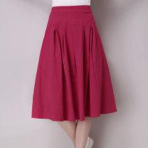 skirt Summer 2020 M,L,XL,2XL Red, light gray, blue, green 30% and below hemp