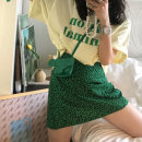 Fashion suit Summer 2021 Average size Yellow T-shirt, green skirt s, green skirt M 18-25 years old 2799# 51% (inclusive) - 70% (inclusive) cotton