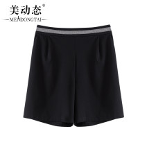 Women's large Summer 2021 black L XL 2XL 3XL 4XL trousers singleton  commute easy moderate Solid color Korean version Three dimensional cutting Beauty trends 25-29 years old pocket 31% (inclusive) - 50% (inclusive) Pure e-commerce (online only) shorts