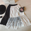 skirt Winter 2016 One size fits all [high end customization] White black Middle-skirt Natural waist Q100 30% and below Vee miny other Lace Cotton 10% others 90%
